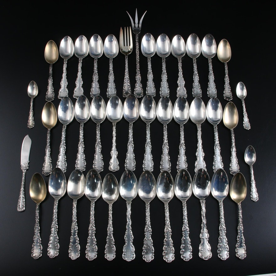 Whiting Mfg. Co. and Wallace Sterling Silver with Other Silver Plate Flatware