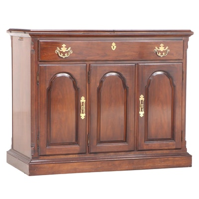 Drexel Federal Style Cherrywood and Laminate Flip-Top Server, Late 20th Century