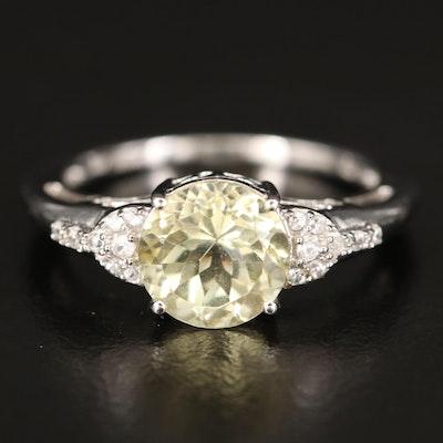 10K Feldspar and Zircon Ring