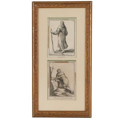 """Filippo Buonanni Religious Order Engravings from """"Ordinum Religiosorum"""""""