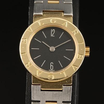 BVLGARI 18K Gold and Stainless Steel Quartz Wristwatch