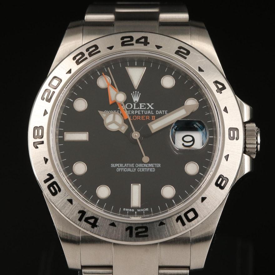 2010 Rolex Explorer II 216570 Stainless Steel Automatic Wristwatch