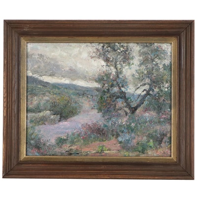 "Kevin Kasik Oil Painting ""Stormy Vista,"" 2021"