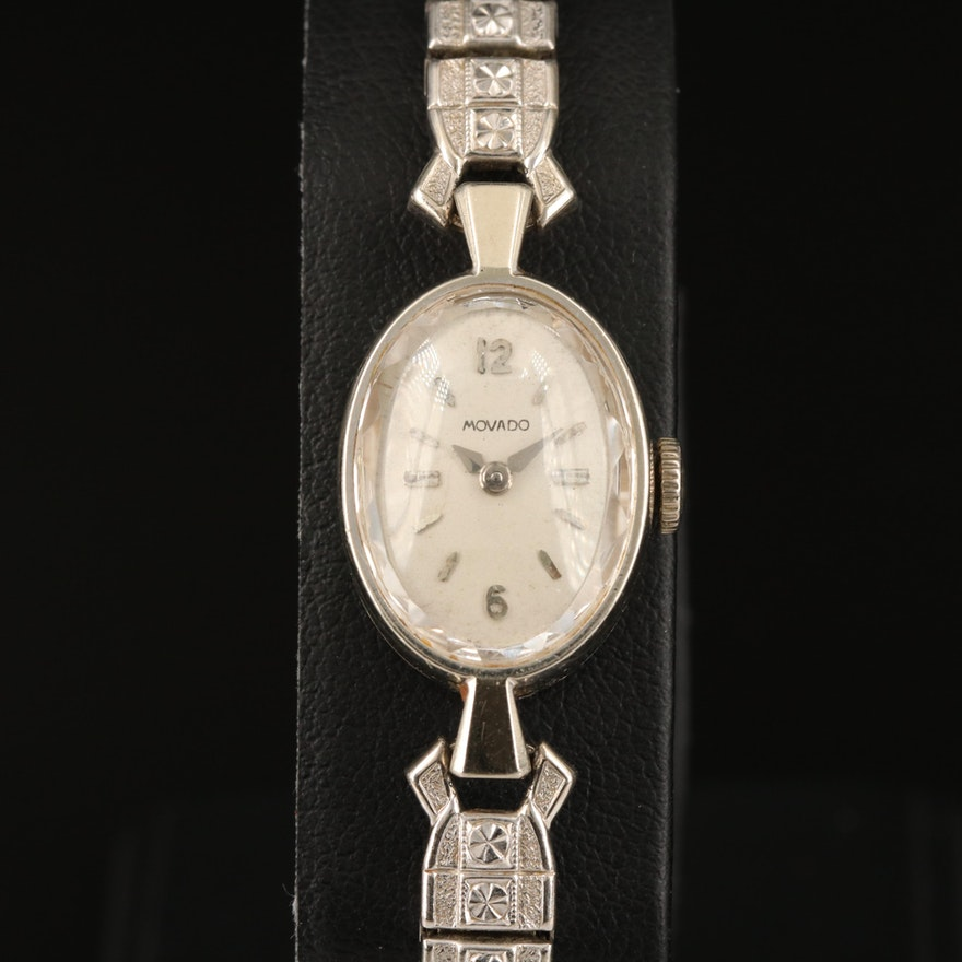 14K Movado Stem Wind Wristwatch