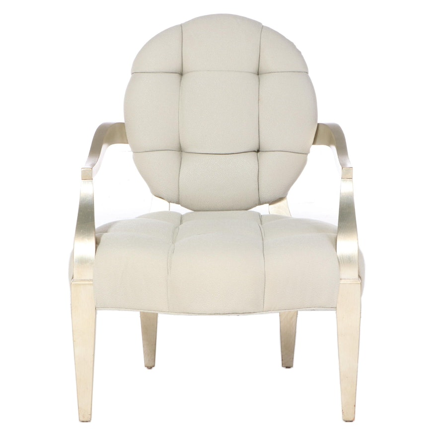 Swaim Furniture Louis XVI Style Giltwood and Tufted Fauteuil