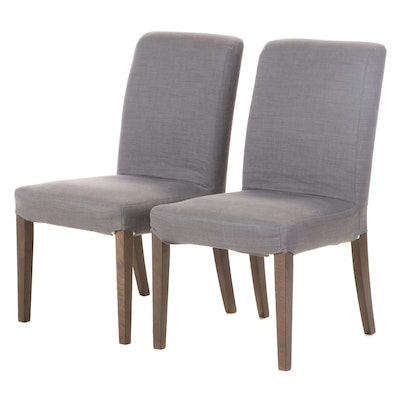 Pair of Contemporary Slip-Covered Dining Side Chairs