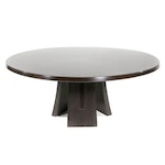 Contemporary Modernist Style Wood Pedestal Dining Table