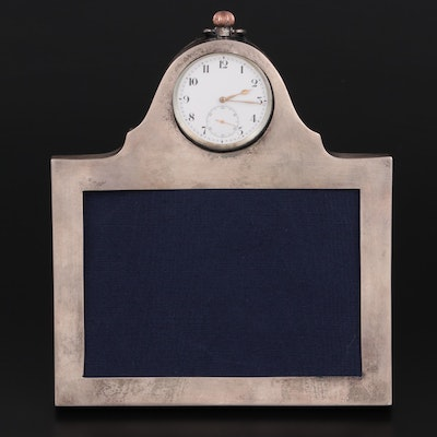 Goldsmiths and Silversmiths Co. Ltd. Sterling Frame and Inset Pocket Watch, 1916