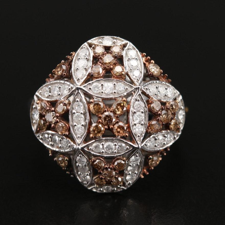 Sterling 1.00 CTW Diamond Ring