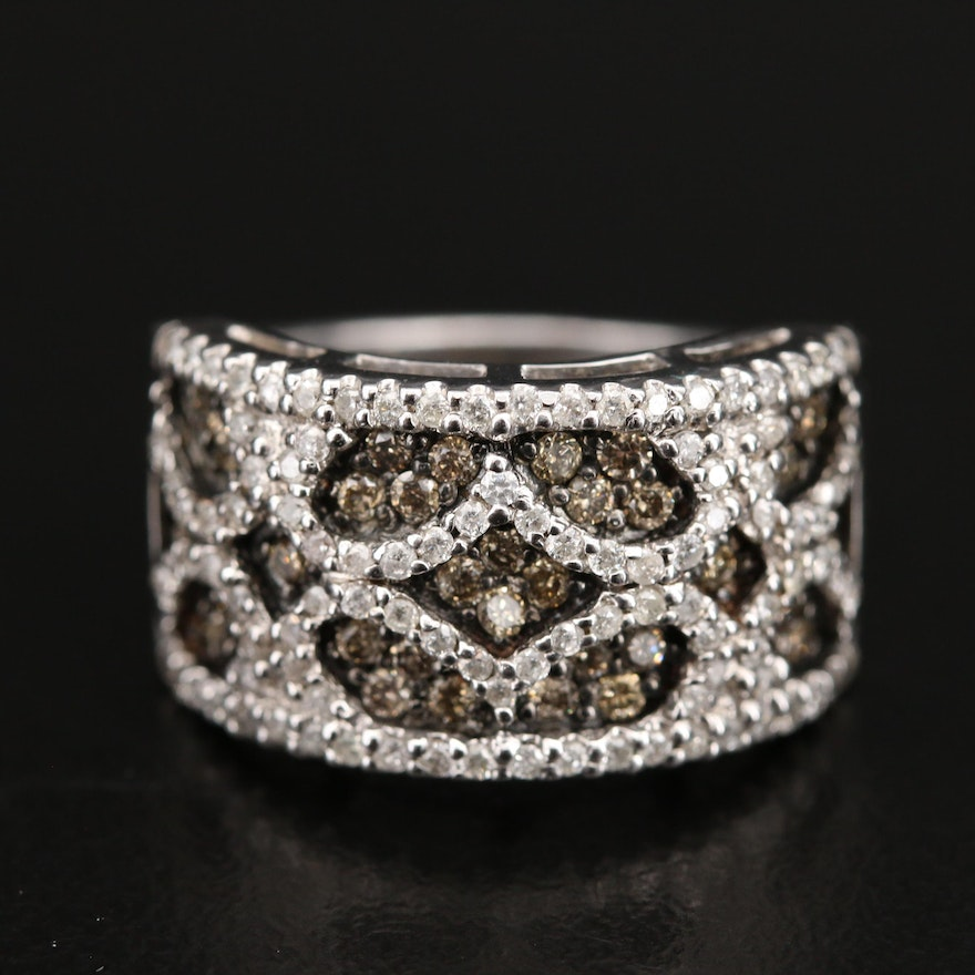 Sterling 1.00 CTW Diamond Openwork Style Ring