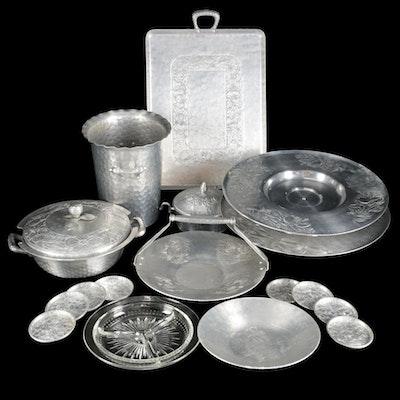 Everlast Aluminum Serveware, Trays and Ice Bucket