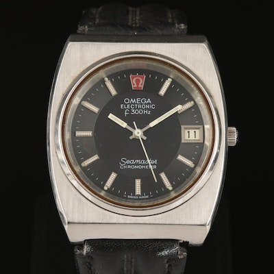 1972 Omega Seamaster Electronic Tuning Fork Stainless Steel Wristwatch