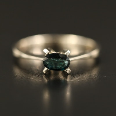 14K Sapphire Solitaire Ring