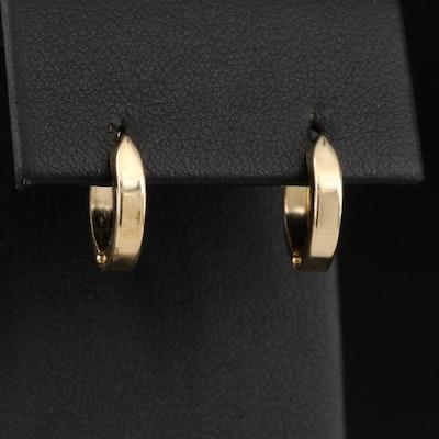 14K Huggie Hoop Earrings