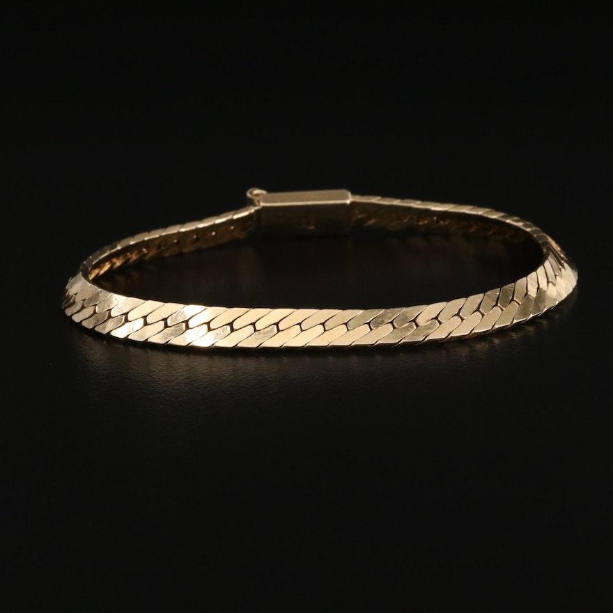 Italian 14K Herringbone Bracelet