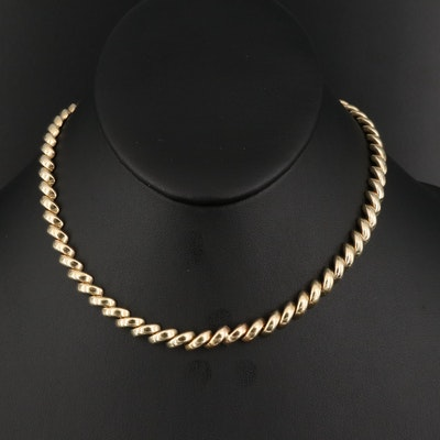 Italian 14K San Marco Link Necklace