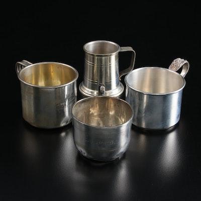Steiff, International, and Boardman Sterling Silver Baby Cups