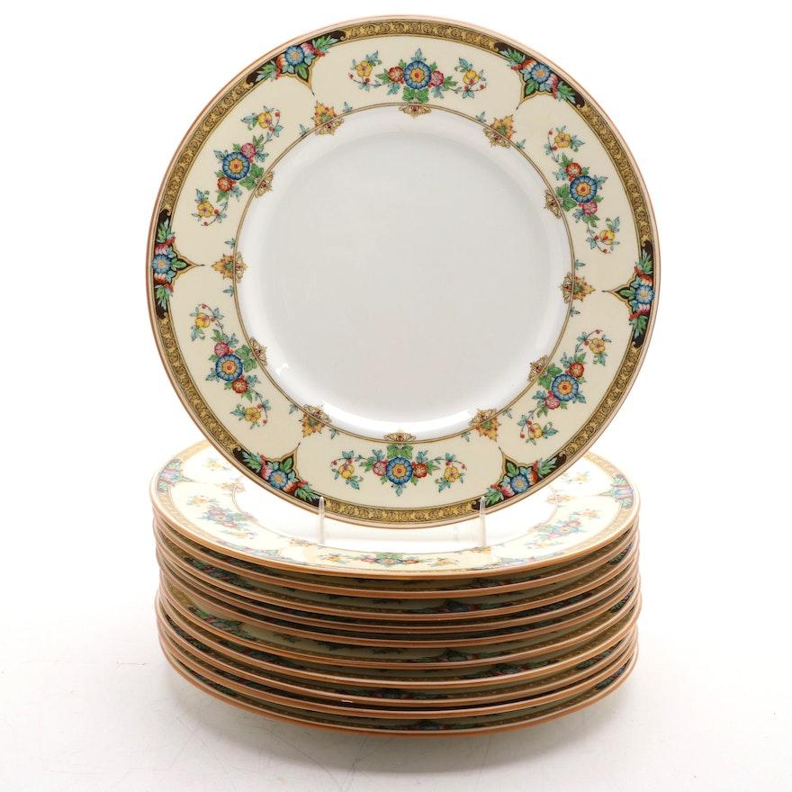"""Minton """"Eloise Orange"""" Porcelain Dinner Plates, 1924–1969"""