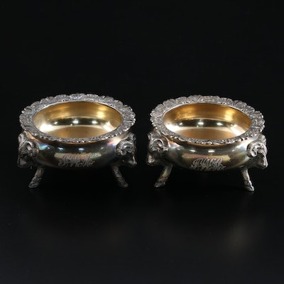 J.E. Caldwell & Co. Sterling Silver Footed Salt Cellars