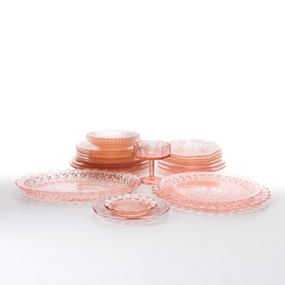 Federal, Jeannette, McKee and Other Pink Depression Glass Dinnerware