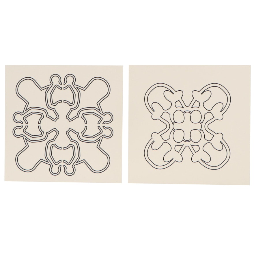 Abstract Lithographs Attributed to Bryan Colburn Ellis, 21st Century