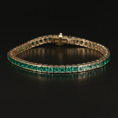 10K Quartz Line Bracelet