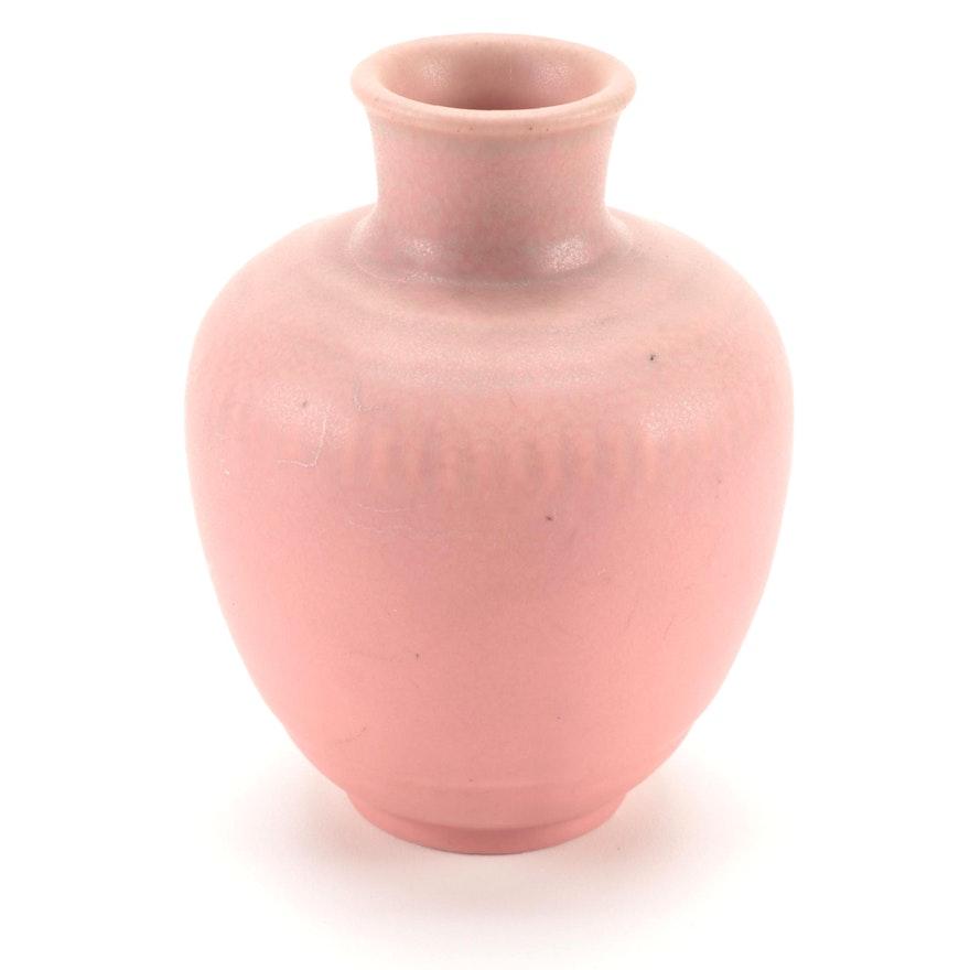 Rookwood Pottery Matte Pink Ceramic Vase, 1934