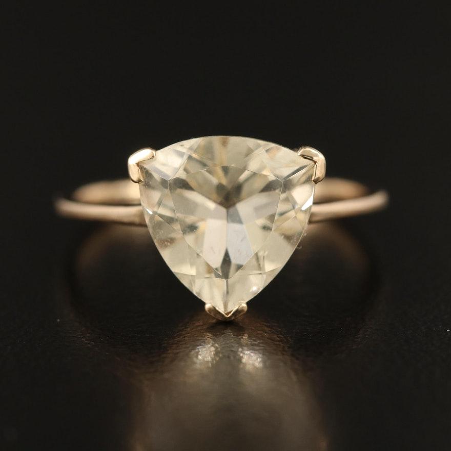 10K Heliodor Ring