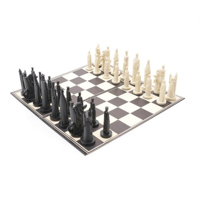 Conqueror Sculptured Chess Set by Peter Ganine, 1962