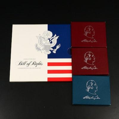 Four Commemorative U.S. Half Dollars Including Silver