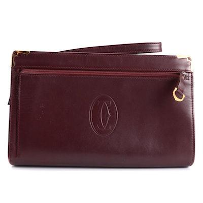 Must de CartierWristlet in Burgundy Leather