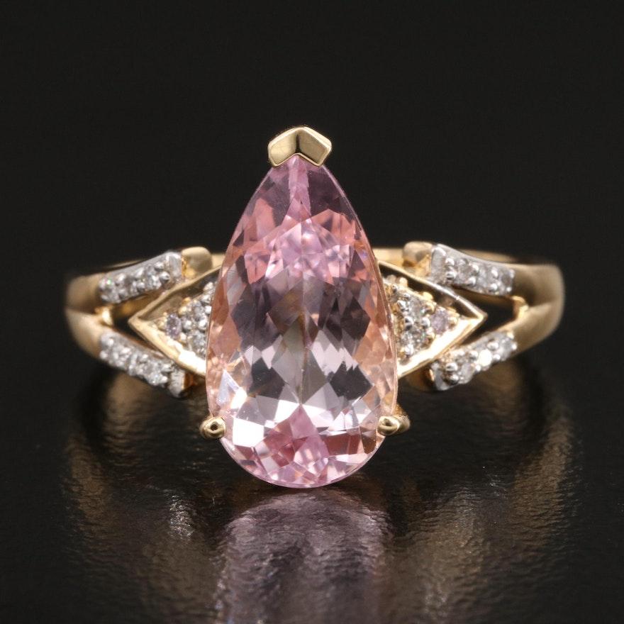 18K 3.74 CTW Topaz and Diamond Ring