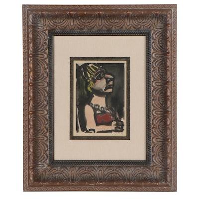 """Georges Rouault Color Lithograph """"Le Dictateur,"""" 1928"""