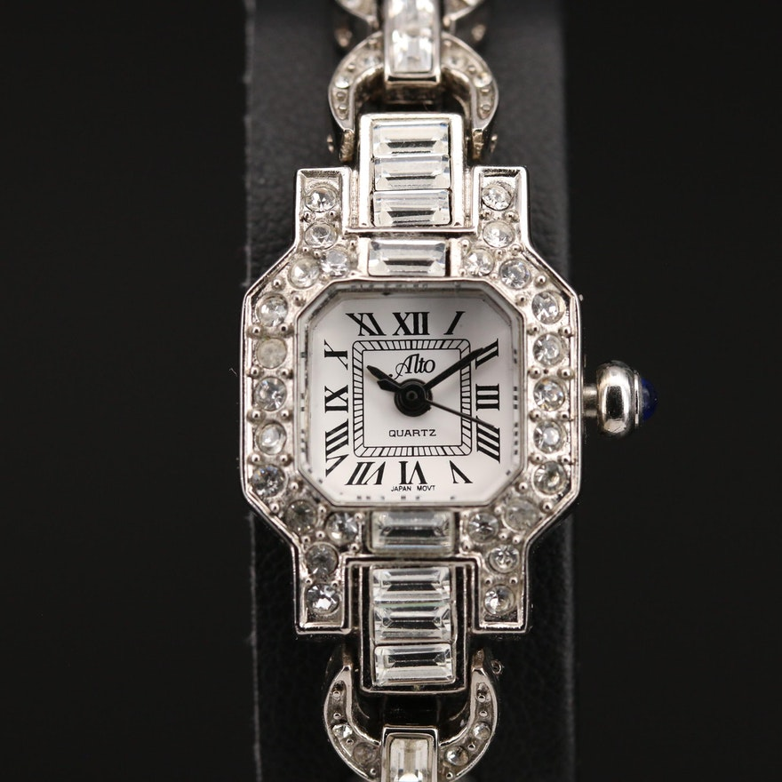 Alto Crystal Accented Quartz Wristwatch