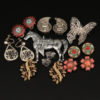 Jewelry Including Examples of Micromosaic, Granulation, Filigree and Wirework