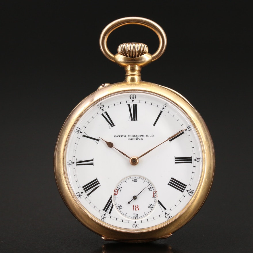 Antique 18K Patek Philippe Open Face Pocket Watch