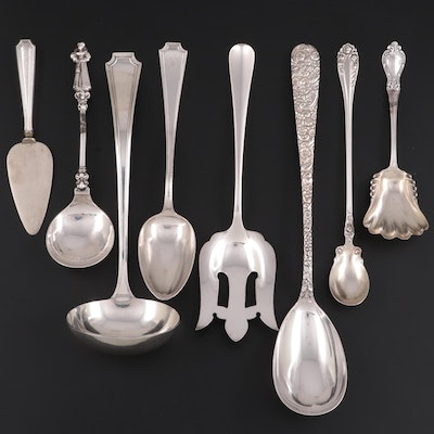 """Durgin """"Fairfax"""" Sterling Silver Ladle, Serving Spoon and Other Utensils"""