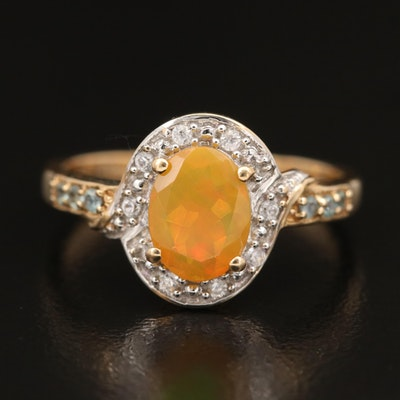 10K Opal and Gemstone Ring