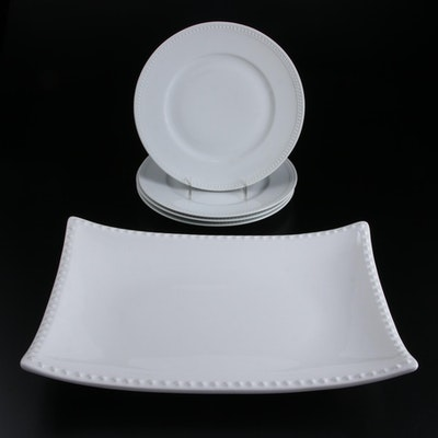 Ceriart Ceramic Serving Plate and Palm Porcelain Dinner Plates
