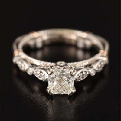 Verragio 14K 1.06 CTW Diamond Ring with Rose Gold Accents