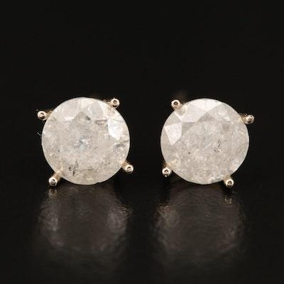 14K 2.30 CTW Diamond Stud Earrings