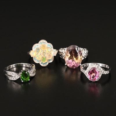Sterling Ametrine and Gemstone Rings