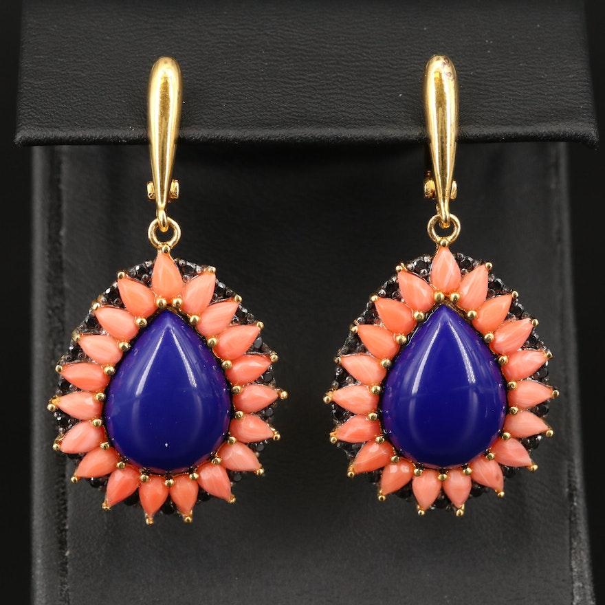 Sterling Cubic Zirconia and Gemstone Earrings