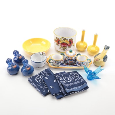 Italian Detura Condiment Set and Other Decorative Accessories