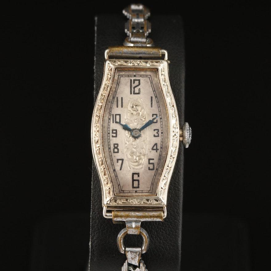 Swiss 14K Double Hinged Case Wristwatch