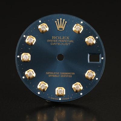 Rolex Datejust Dark Navy Blue Diamond After Market Dial