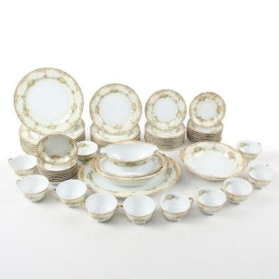 "Noritake ""Milroy"" Gilt Porcelain Dinnerware, Mid-20th Century"