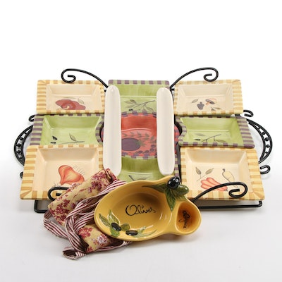 """Signature Housewares """"Antipasto"""" Plates with Tray and Others"""