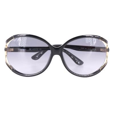 Salvatore Ferragamo SF600S Oversized Round Sunglasses with Case