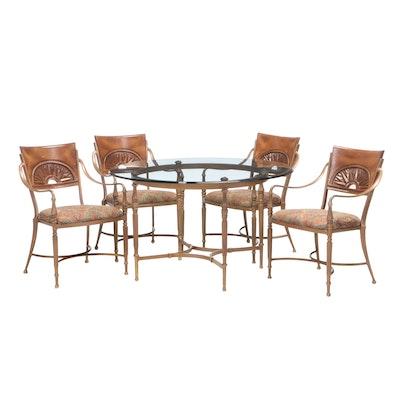 Kesslar Industries Directoire Style Cast Metal Dining Set